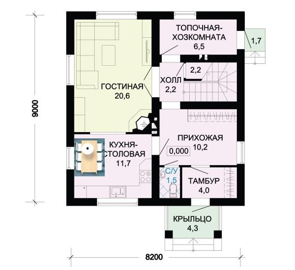 3 вариант планировки дома.