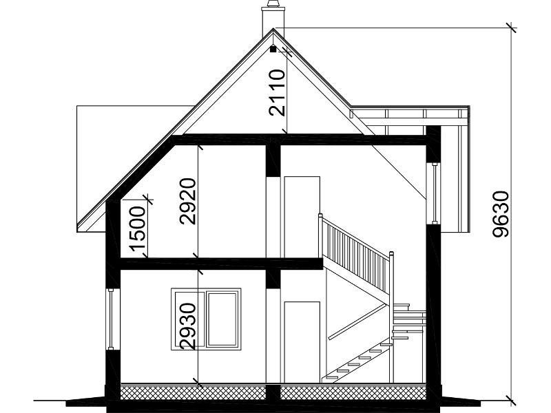 Планировка этажей в доме 8 м на 10 м.
