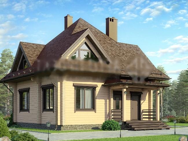 Готовый вид проекта дома.