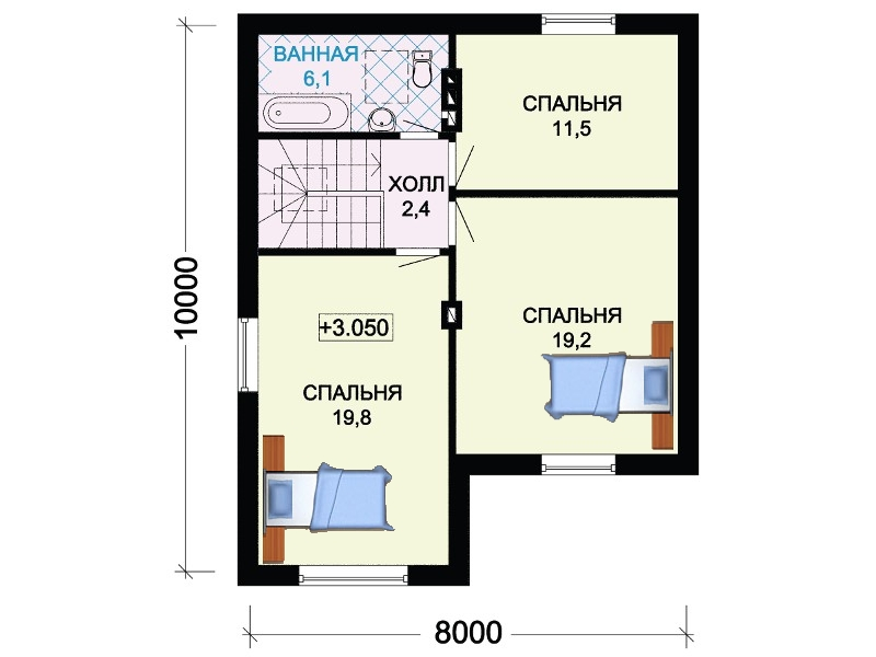 Проект 2 этажа дома.