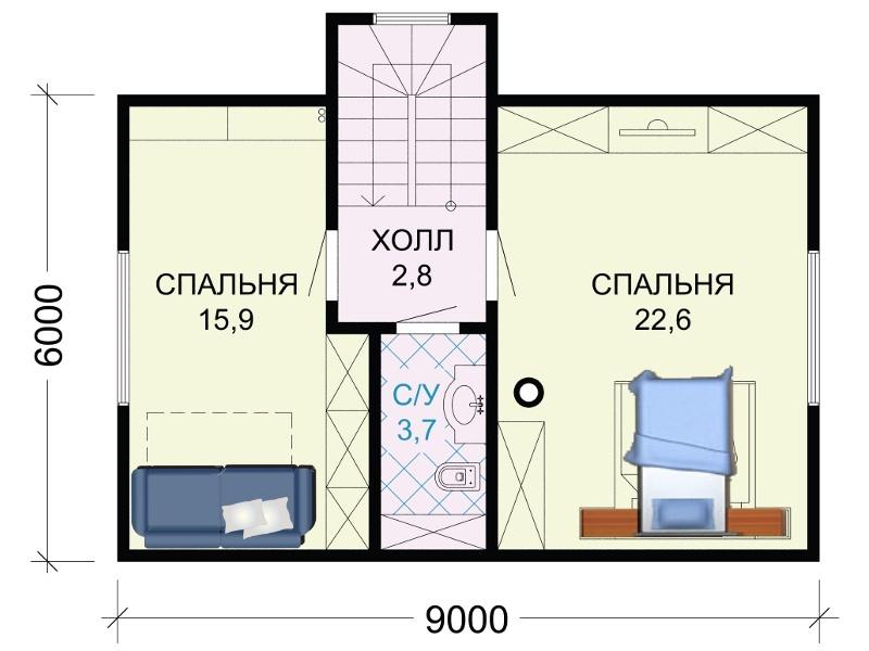 Проект верхнего этажа.