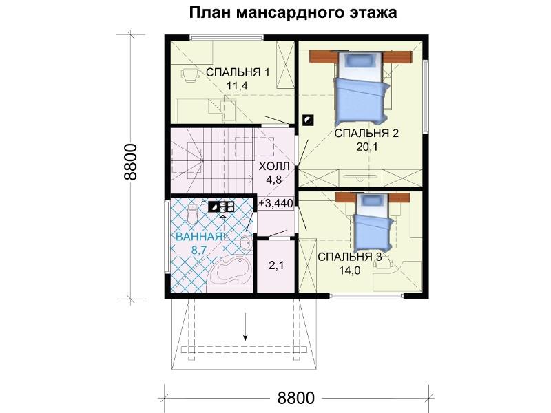 Второй этаж дома.