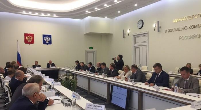 Заседание в Минстрое РФ насчет дорожных карт новостроек.